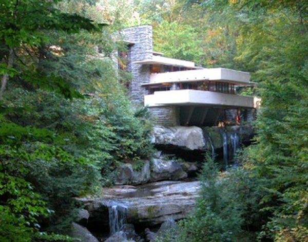 Waterfall home, USA
