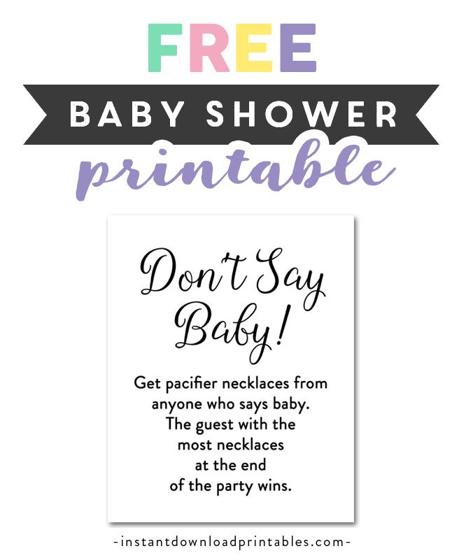 Free Printable Baby Shower Elegant Simple Black And White