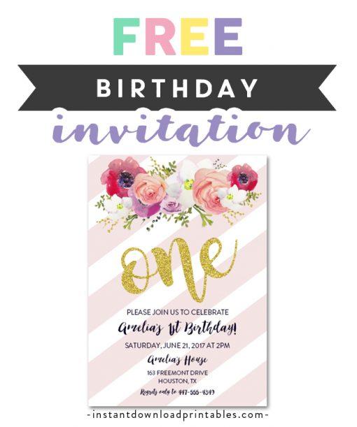 free printable editable pdf birthday