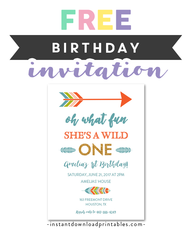 1st birthday tribal wild one arrow