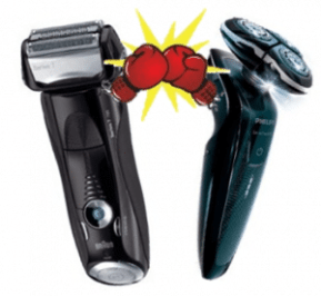 types of electric shavers: rotary and foil shavers