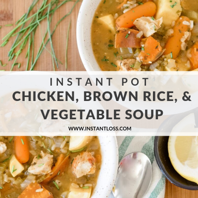 Chicken, Brown Rice, and Vegetable Soup