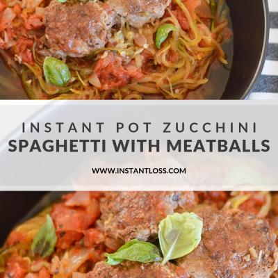 Instant Pot Zucchini Spaghetti with Meatballs
