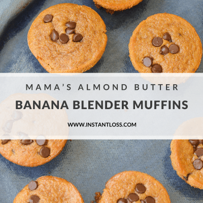 Mama's Almond Butter Banana Blender Muffins