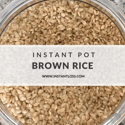 Instant Pot Brown Rice