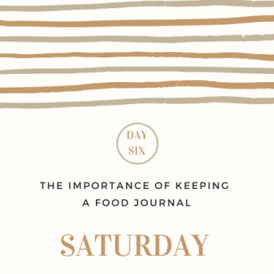 The Importance of Keeping a Food Journal- Day 6