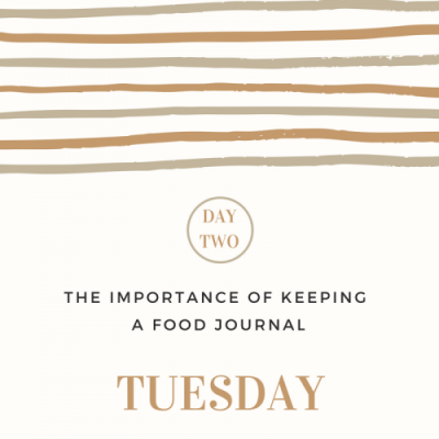 The Importance of Keeping a Food Journal- Day 2