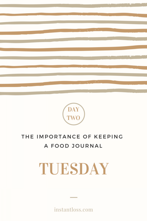 The Importance of Keeping a Food Journal Day 2 instantloss.com