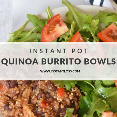 Instant Pot Chicken, Black Bean, and Quinoa Burrito Bowls