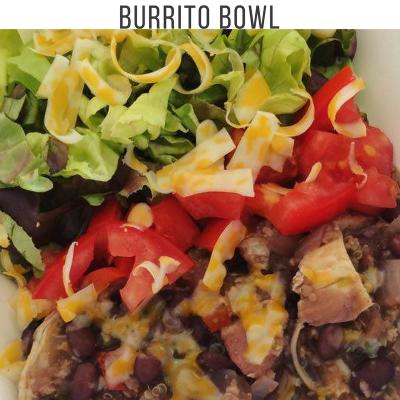 Instant Pot Chicken, Black Bean, and Quinoa Burrito Bowls