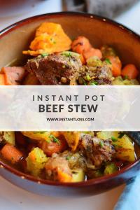 Instant Pot Beef Stew instantloss.com