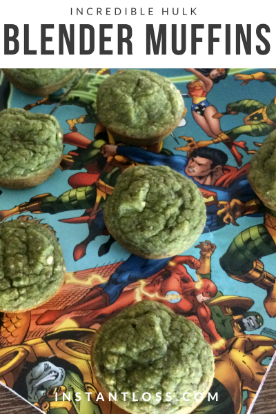 Incredible Hulk Blender Muffins instantness.com