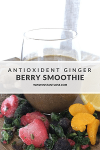 Antioxident Ginger Berry Smoothie instantloss.com