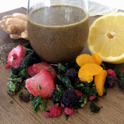 Antioxidant Ginger Berry Smoothie
