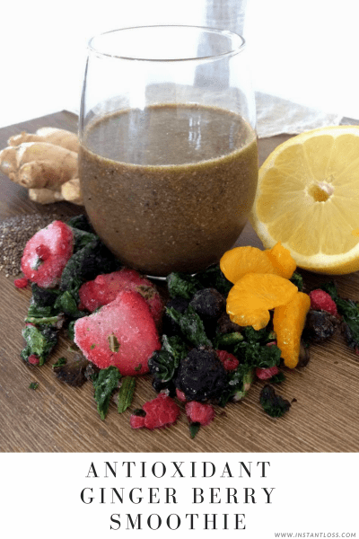 Antioxidant Ginger Berry Smoothie instantloss.com