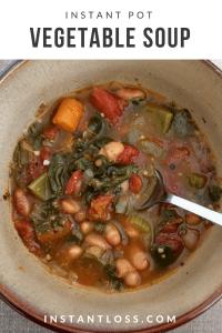 Instant Pot Vegetable Soup instantloss.com