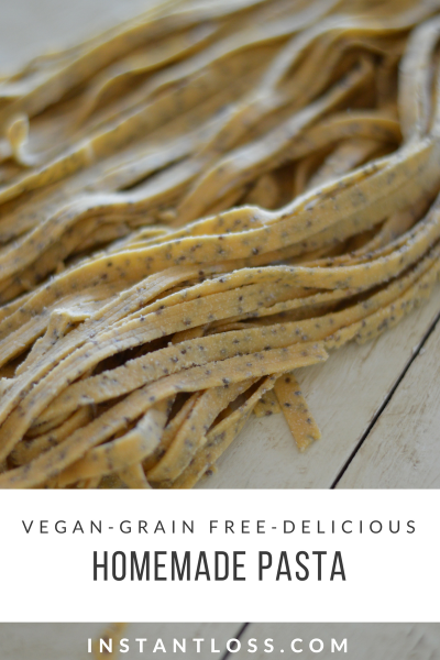 Grain Free Vegan Homemade Pasta