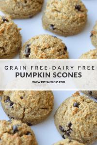 Grain Free-Dairy Free Pumpkin Scones