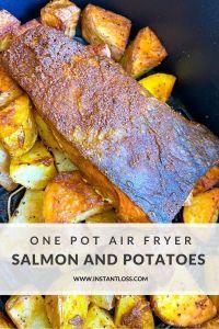 One Pot Air Fryer Salmon and Potatoes instantloss.com