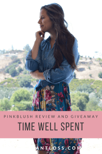 Time Well Spent Pink Blush Review and Giveaway instantloss.com