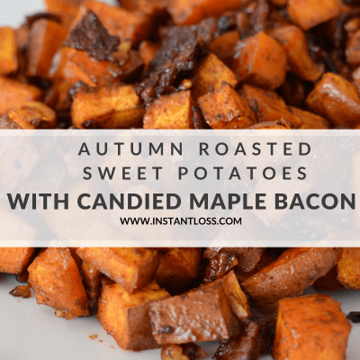 Autumn Roasted Sweet Potatoes with Candied Maple Bacon