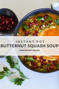 Instant Pot Butternut Squash Soup instantloss.com