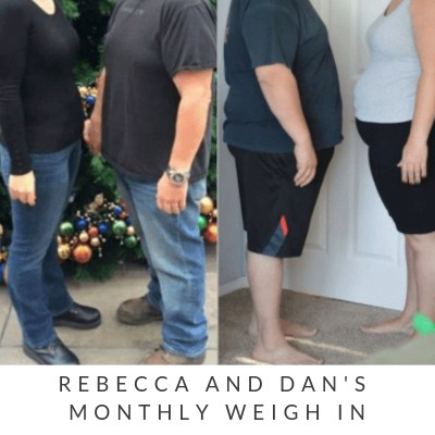 January Monthly Weight Loss Weigh In {Rebecca and Dan}