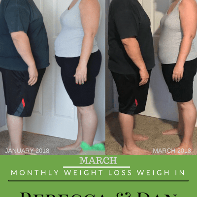 March Monthly Weight Loss Weigh In {Rebecca and Dan}