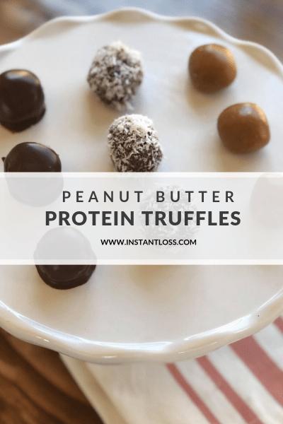Peanut Butter Protein Truffles instantloss.com