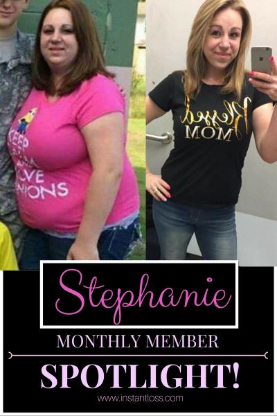 Stephanie Monthly Member Spotlight instantloss.com