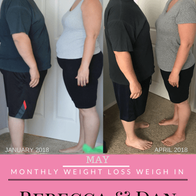 May Monthly Weight Loss Weigh In {Rebecca and Dan}