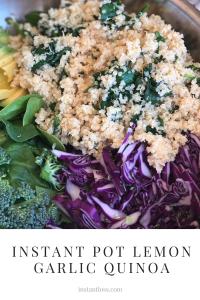 Instant Pot Lemon Garlic Quinoa instantloss.com