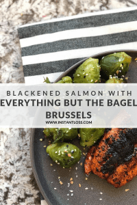 Blackened Salmon with Everything But The Bagel Brussels instantloss.com