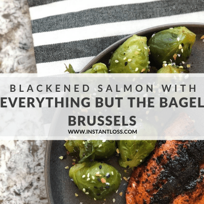 Blackened Salmon with Everything but the Bagel Brussels