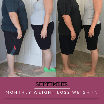 September Monthly Weight Loss Weigh In {Rebecca and Dan}