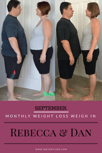 September Monthly Weight Loss Weigh In {Rebecca and Dan} instantloss.com