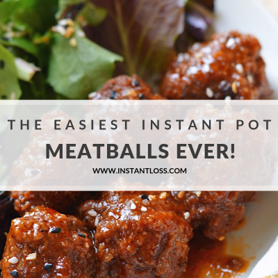 The Easiest Instant Pot Meatballs Ever!