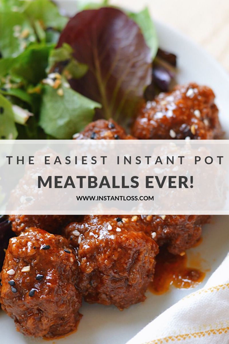 The Easiest Instant Pot Meatballs Ever instantloss.com