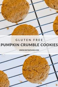 Gluten Free Pumpkin Crumble Cookies instantloss.com