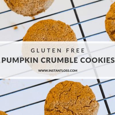 Gluten Free Pumpkin Crumble Cookies