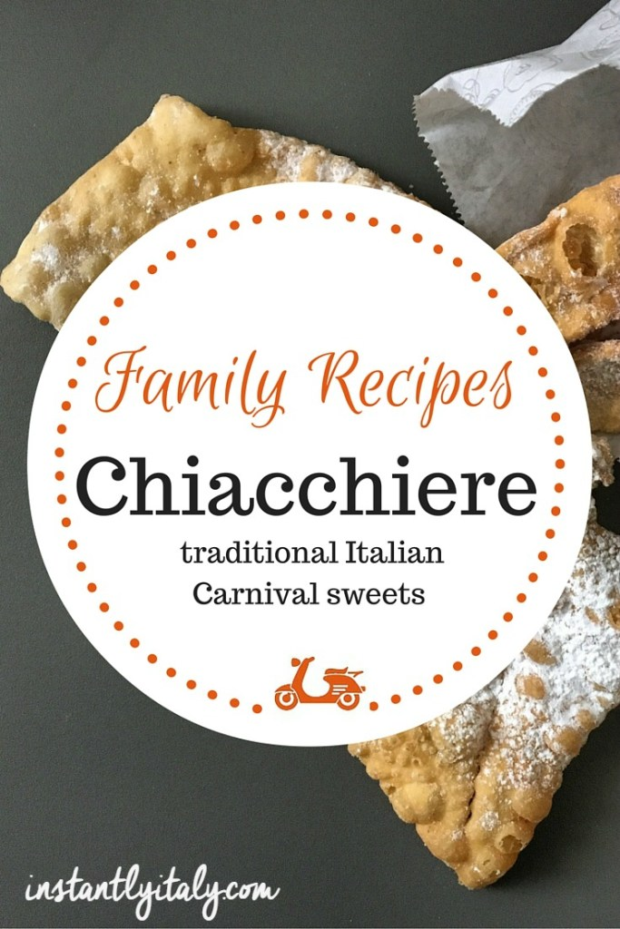 My mother's recipe for chiacchiere, the traditional sweet Italians eat at Carnival