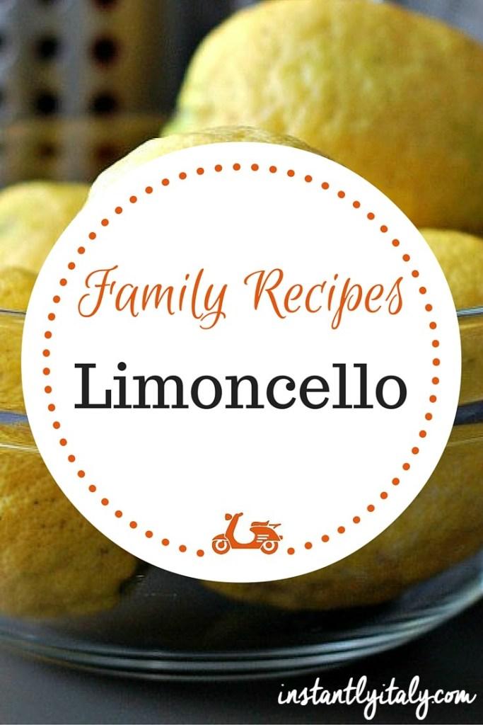 Family recipes: my mom's traditional limoncello recipe