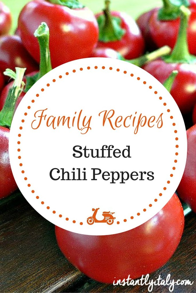 Family recipes: my mother's recipe for stuffed chili peppers