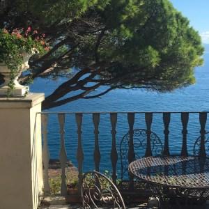 Admiring the gulf of Portofino from la Cervara Abbey on Instantly Italy