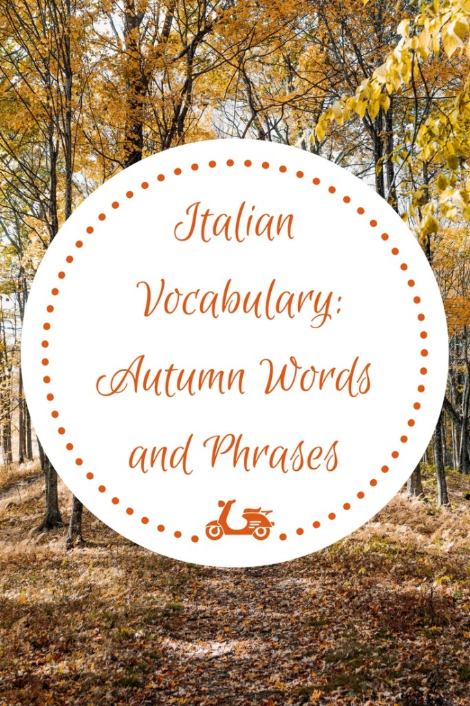 Can you feel the crisp in the air? A new season is arriving and, if you are studying Italian, you need some vocabulary to talk or write about it. In today's post, you'll find a list of the most common words related to autumn and a downloadable file for you to keep.
