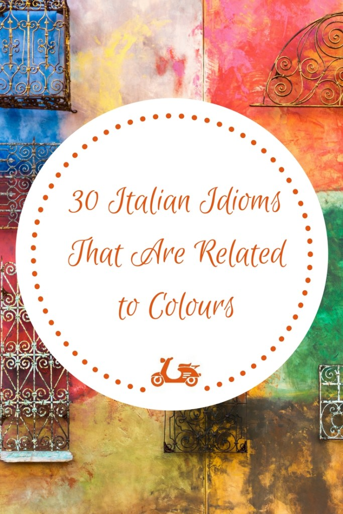In this post, you'll find a list of 30 common Italian idioms which have something to do with colours. Moreover, inside you'll also find a downloadable pfd with examples.