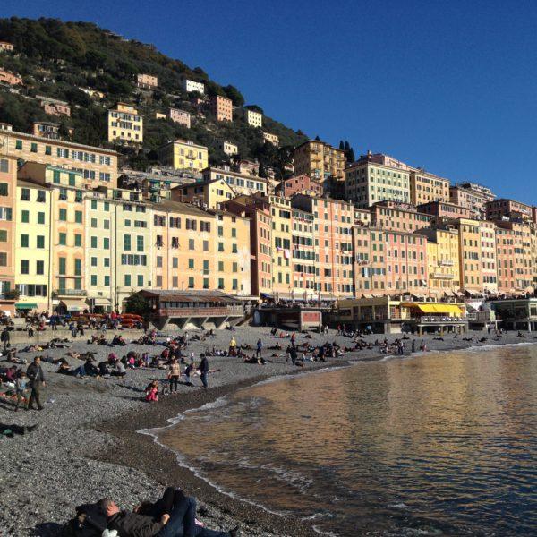 A seaside view of Camogli, Liguria