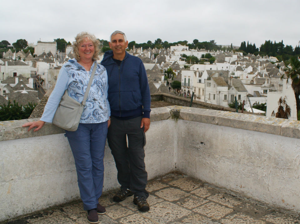 A view of Paul and Lucy in Alberobello