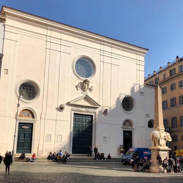The church of Santa Maria sopra Minerva in Rome