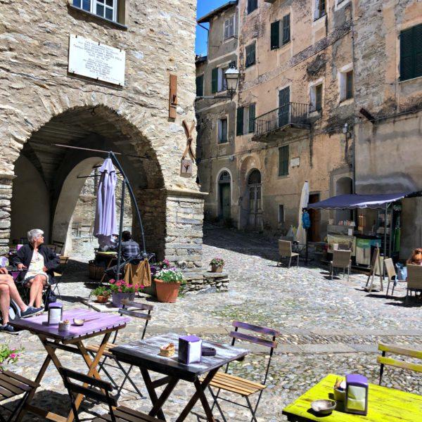 Triora, a little square in the village